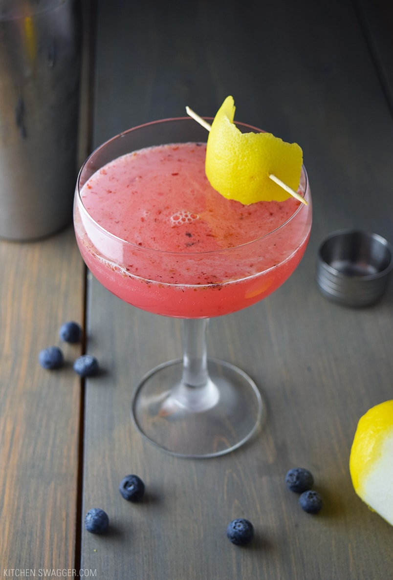 Cucumber Infused Blueberry Martini Recipe