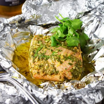 "<span class=""entry-title-primary"">Baked Salmon with Cilantro and Lime in Foil Recipe</span> <span class=""entry-subtitle"">Baked salmon with cilantro and lime is a tangy Mexican inspired salmon entrée that is perfect for summer and easy to clean up.</span>"