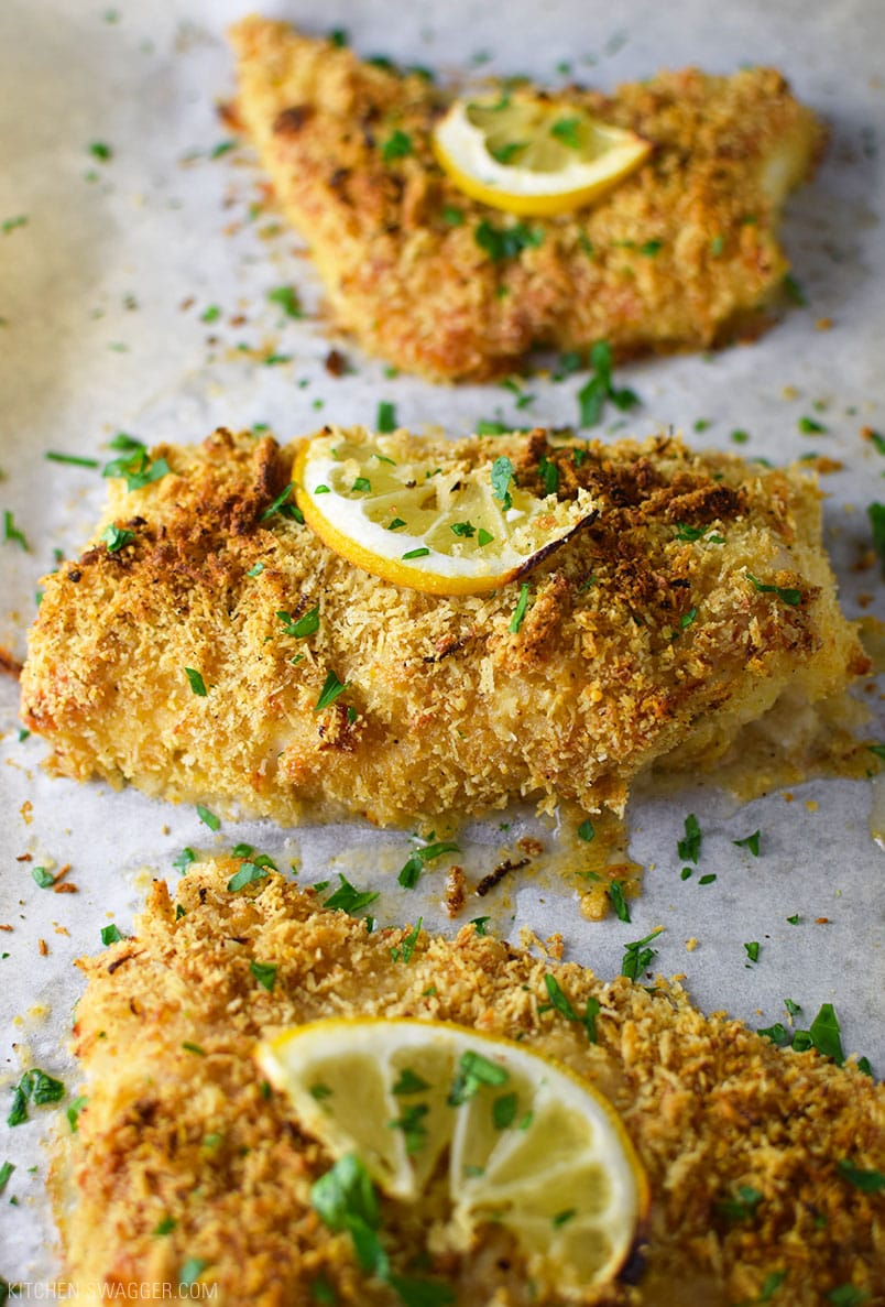 Baked Triscuit Crusted Cod Recipe