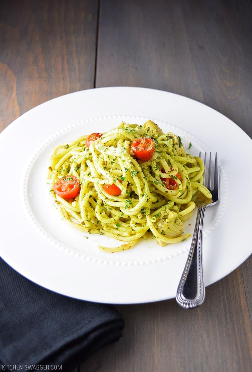 Easy Chicken Pesto Pasta Recipe