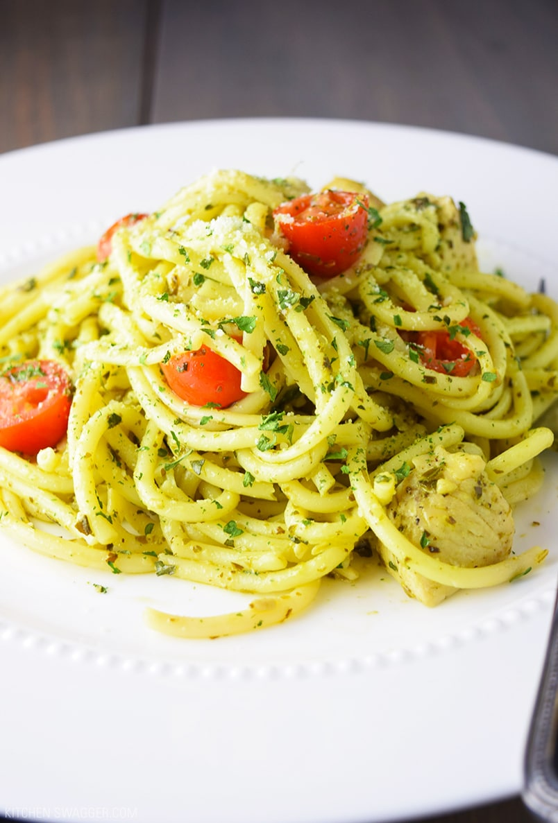 Easy Chicken Pesto Pasta Recipe | Kitchen Swagger
