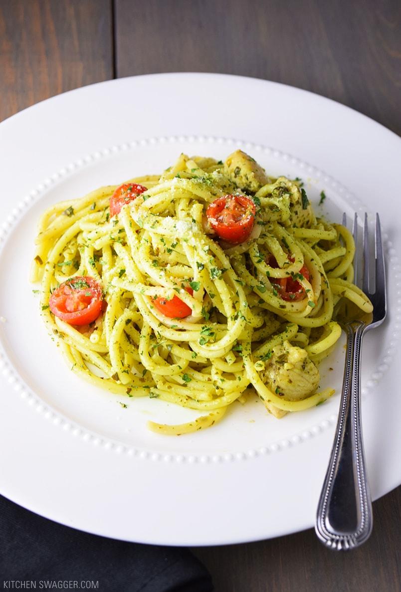 Easy chicken pesto pasta recipes
