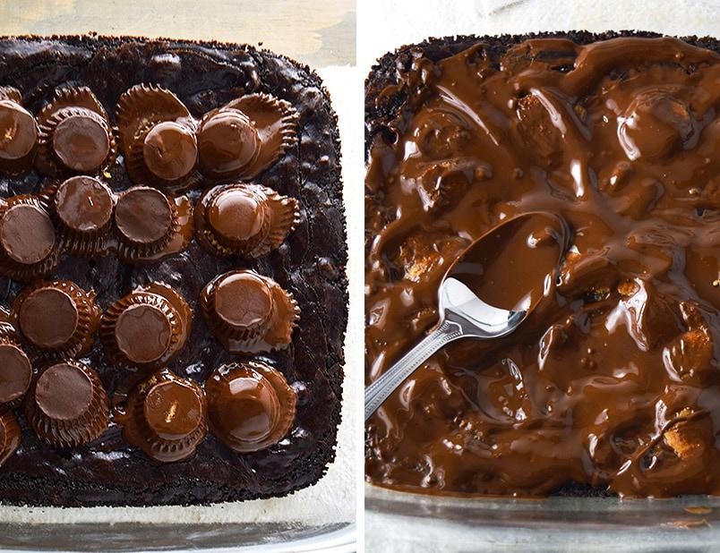 Dark Chocolate Brownies with Peanut Butter and Sea Salt Recipe