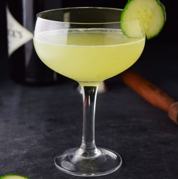 """<span class=""""entry-title-primary"""">Cucumber Gin and Elderflower Martini Recipe</span> <span class=""""entry-subtitle"""">The official cocktail of spring. Gin, elderflower liqueur, fresh lemon juice and fresh muddled cucumbers.</span>"""