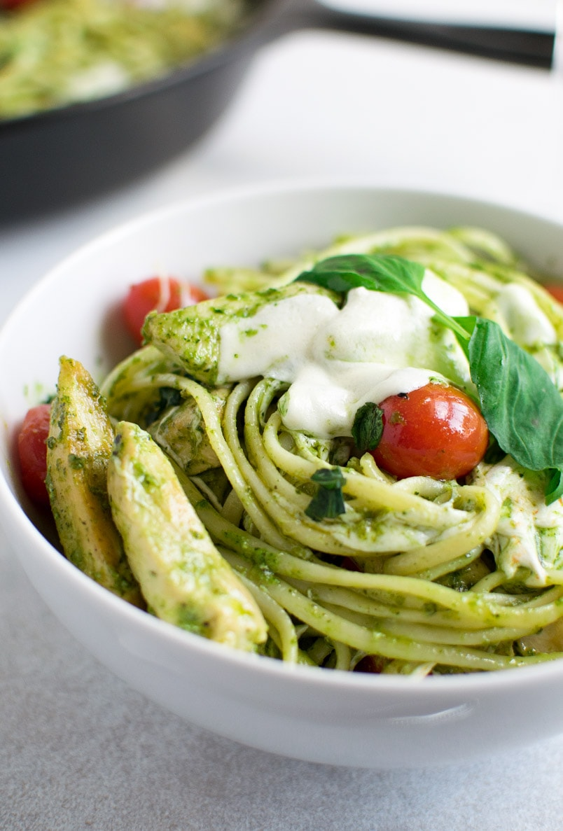 Chicken Pesto Pasta with Mozzarella Recipe