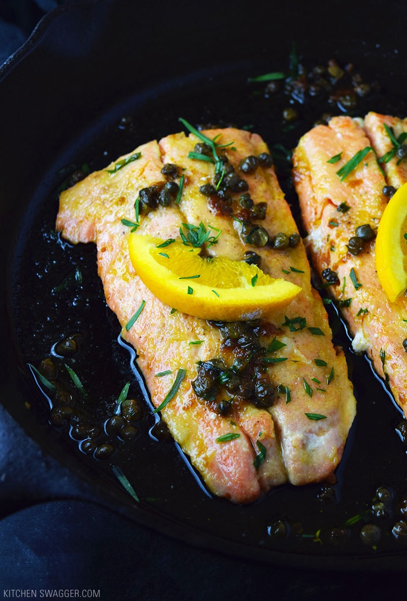 Trout with Capers, Orange, and Brown Butter Recipe
