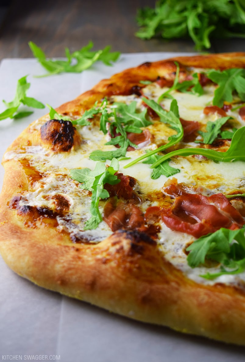 Prosciutto Fig and Arugula Pizza Recipe