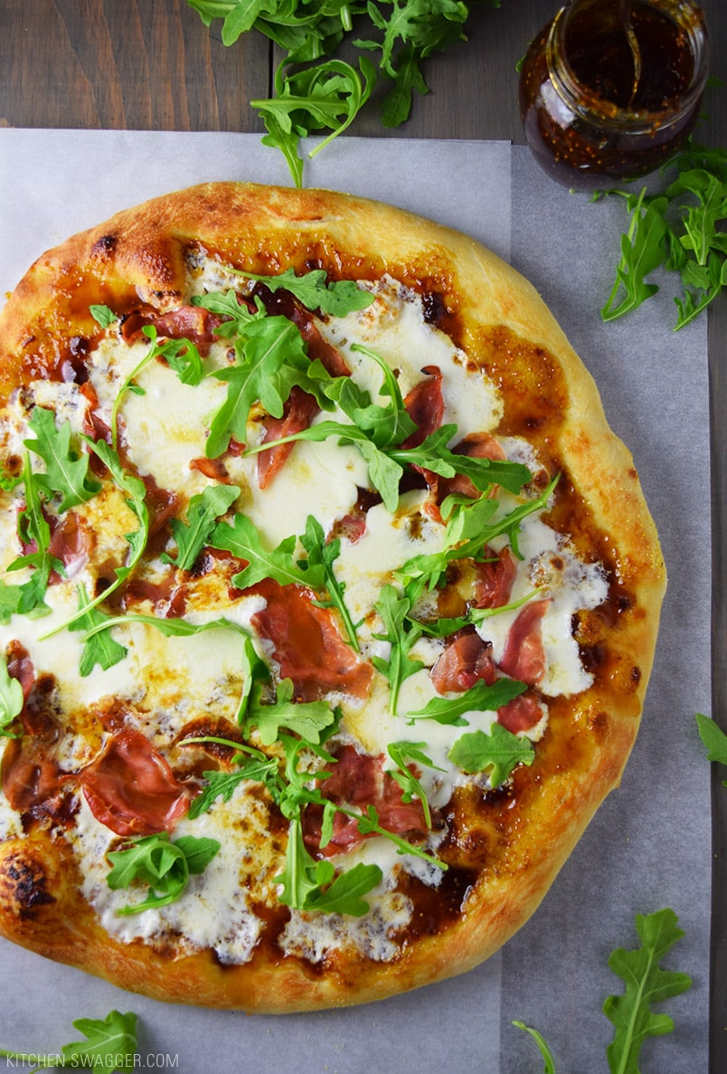 Prosciutto, Fig, and Arugula Pizza Recipe