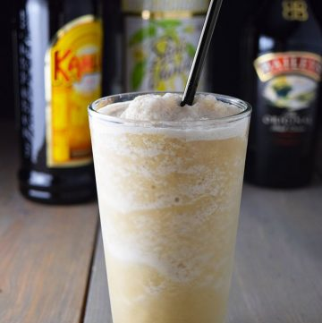 "<span class=""entry-title-primary"">Healthier Frozen Mudslide Recipe</span> <span class=""entry-subtitle"">A healthier frozen mudslide made without ice cream. All you need is vodka, coffee liquor, Irish cream and ice.</span>"