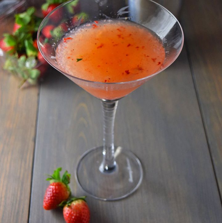 Strawberry Cucumber Tequila Martini Recipe