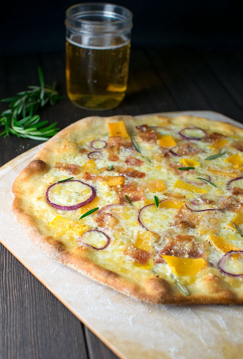 Butternut Squash Pizza with Bacon & Rosemary Recipe