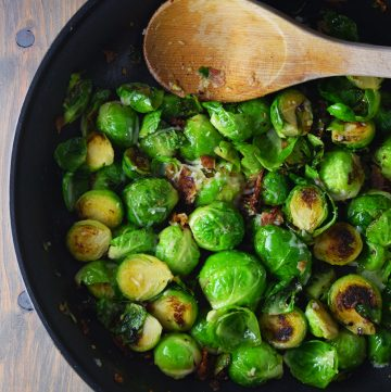 "<span class=""entry-title-primary"">Bacon Brussel Sprouts Recipe</span> <span class=""entry-subtitle"">Delicious and easy bacon brussel sprouts sautéed with garlic, olive oil, salt, pepper, and grated parmesan cheese.</span>"
