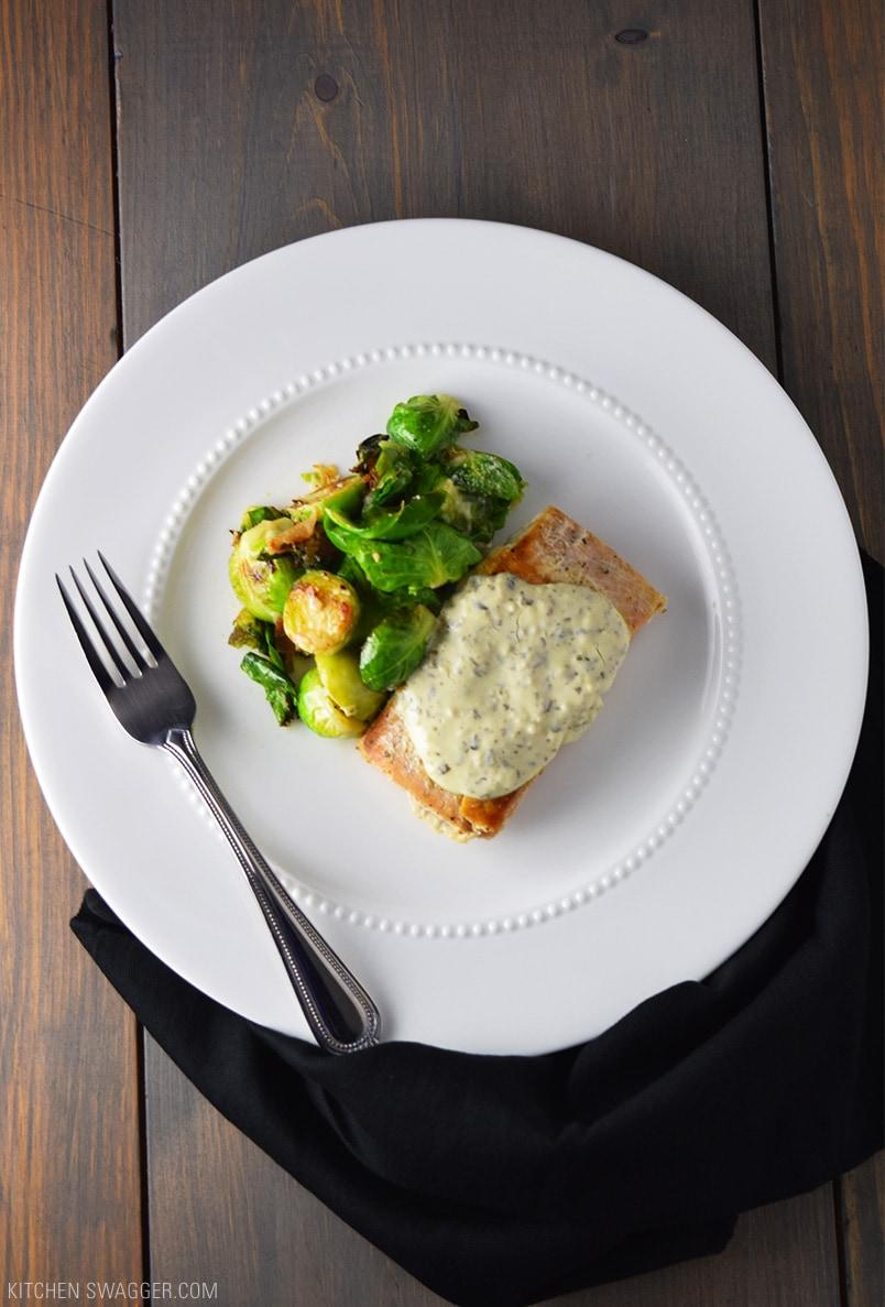 Seared Salmon With Creamy Pesto Sauce Recipe Kitchen Swagger