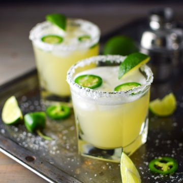 "<span class=""entry-title-primary"">Spicy Jalapeño Margarita Recipe</span> <span class=""entry-subtitle"">A spicy spin on the classic margarita made with elderflower, honey, and fresh jalepeño.</span>"