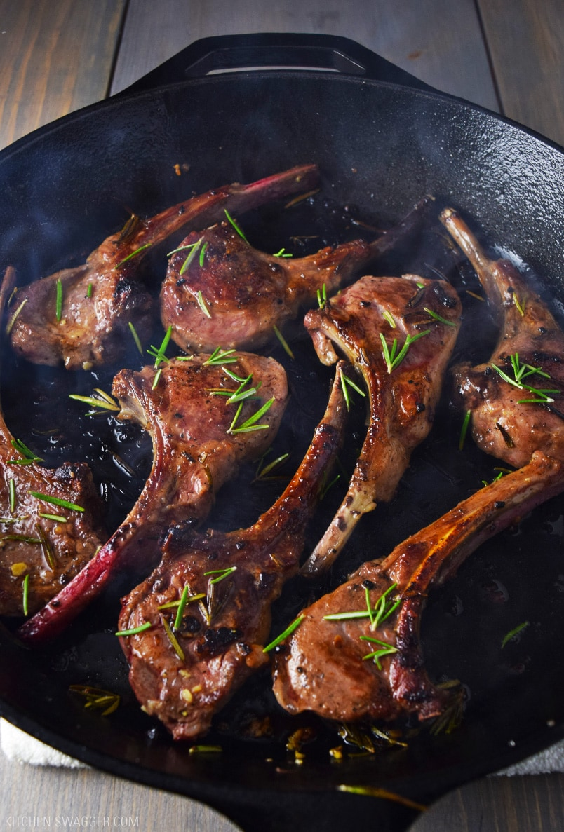 Lamb Lollipops with Garlic and Rosemary Recipe