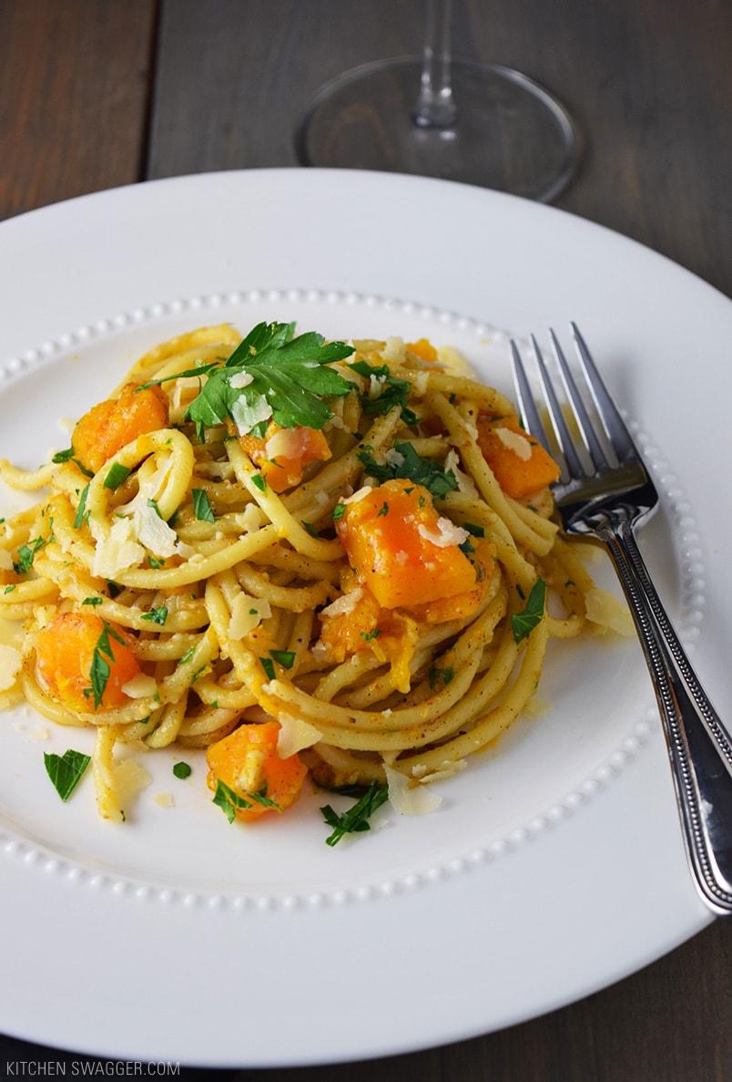 Butternut Squash Pasta Recipe | Kitchen Swagger