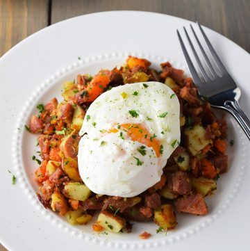 "<span class=""entry-title-primary"">Corned Beef Hash Recipe</span> <span class=""entry-subtitle"">Corned beef hash is the perfect Irish brunch entrée made with leftover corned beef, potatoes and carrots. Top with a poached egg and serve with an Irish coffee.</span>"
