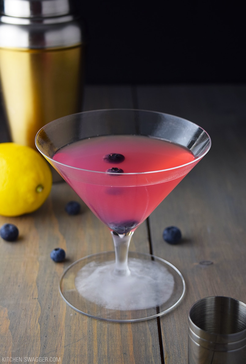 Anti-Oxidant Blueberry Martini Recipe