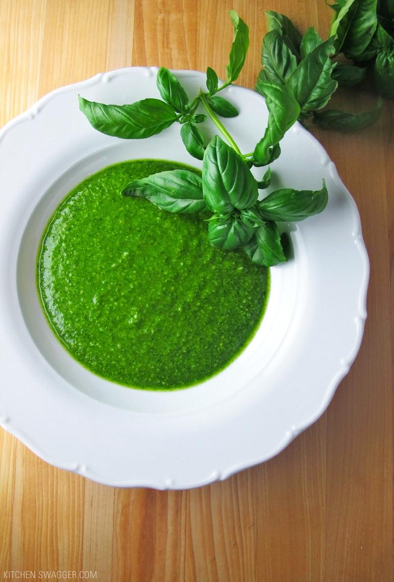 Fresh Homemade Basil Pesto Recipe | Kitchen Swagger