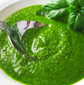 "<span class=""entry-title-primary"">Fresh Homemade Basil Pesto Recipe</span> <span class=""entry-subtitle"">Fresh homemade basil pesto. The only way to eat pesto.</span>"