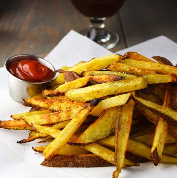 "<span class=""entry-title-primary"">Baked Craft Beer Fries Recipe</span> <span class=""entry-subtitle"">Hand cut, baked fries soaked in a strong IPA or ale before baking.</span>"