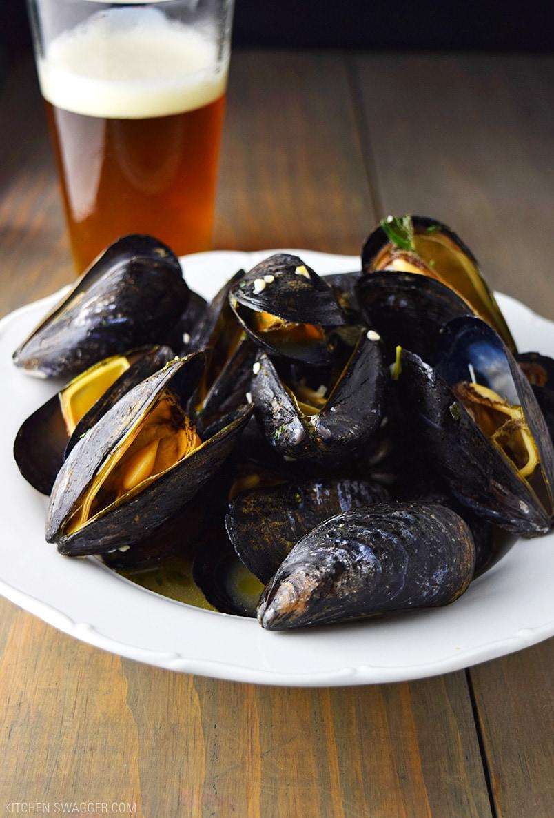 Beer Steamed Mussels Recipe