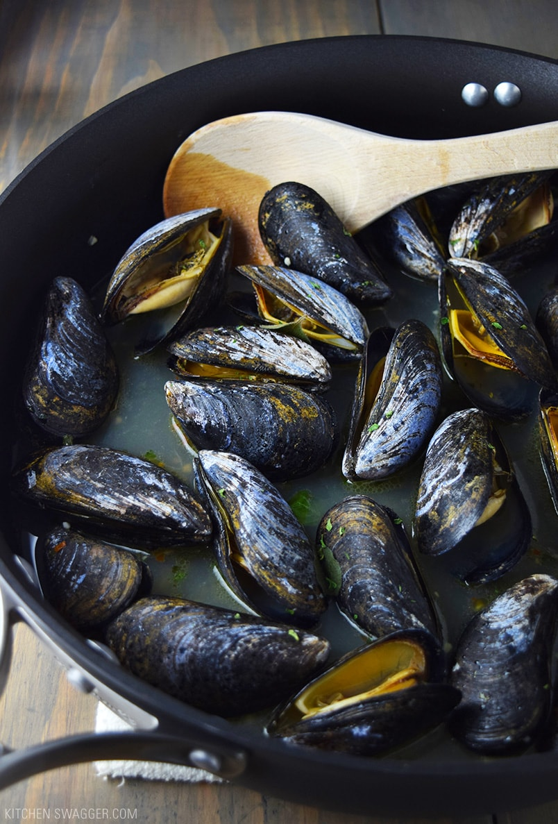 Beer Steamed Mussels Recipe: How to steam mussels in beer.
