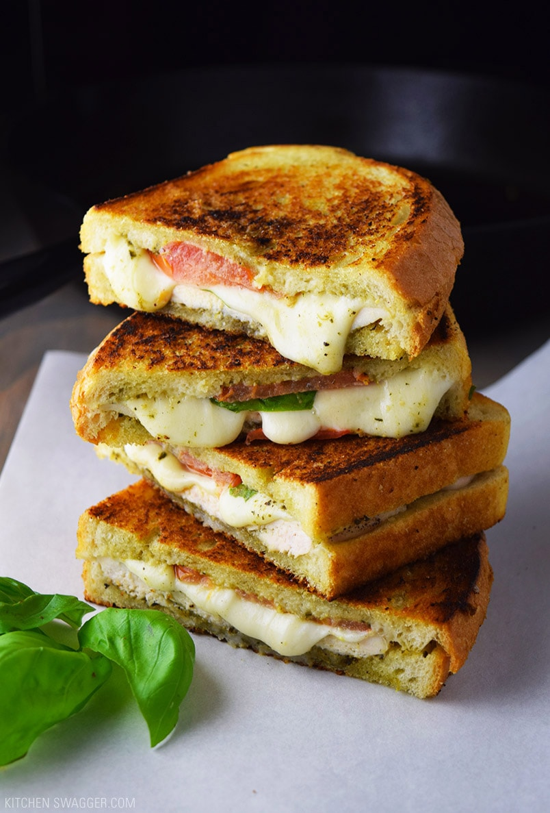 Cast Iron Chicken Pesto and Mozzarella Panini Recipe