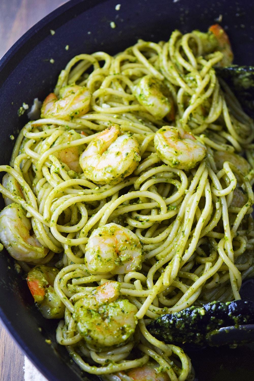 Shrimp Pesto Pasta Recipe