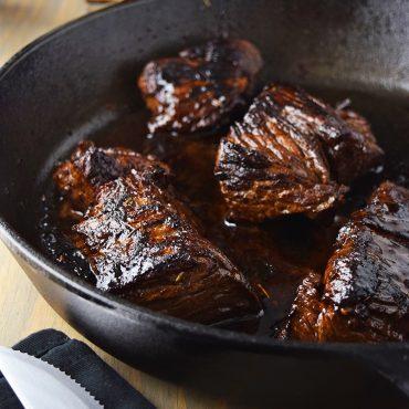 Pan-Seared Sirloin Steak with Chimichurri Sauce Recipe | Kitchen ...
