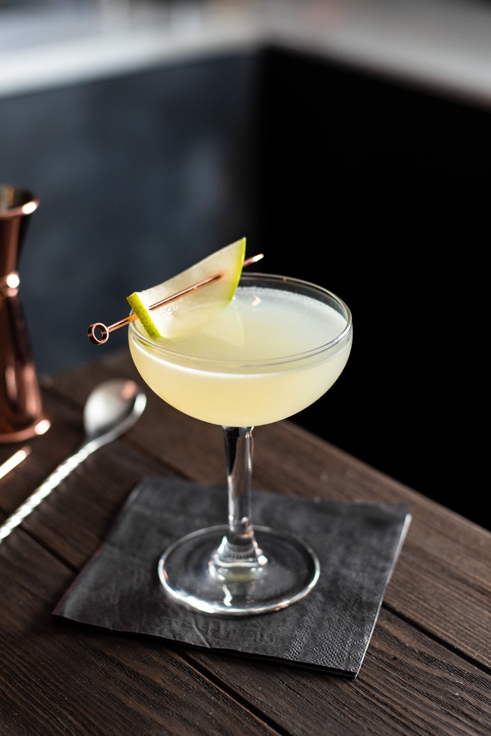 Pear Martini with Elderflower Liqueur Recipe