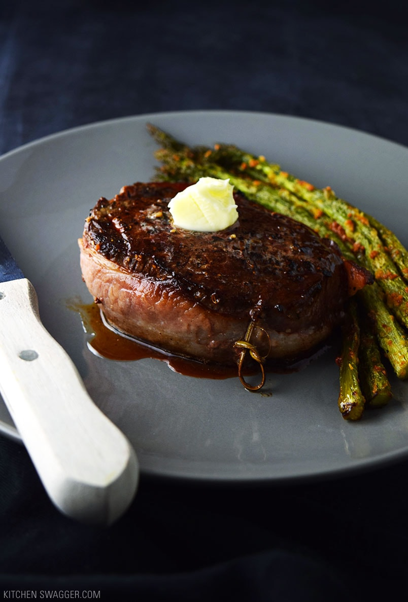 Bacon-Wrapped Filet Mignon with Truffle Butter Recipe