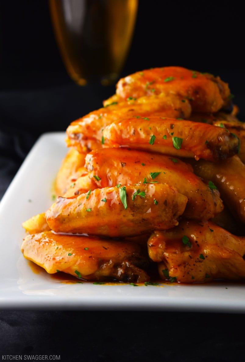 Crispy Baked Honey Buffalo Wings Recipe Kitchen Swagger