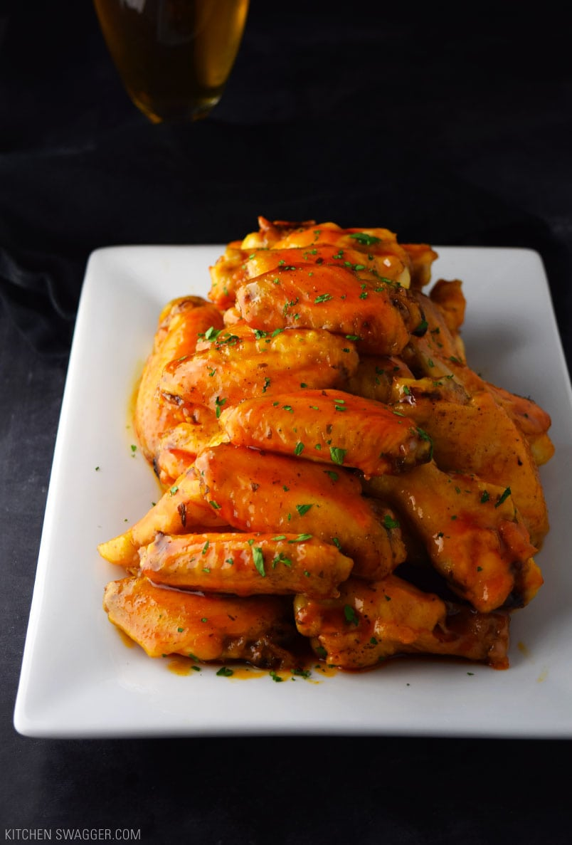 Crispy Baked Honey Buffalo Wings Recipe Kitchen Swagger