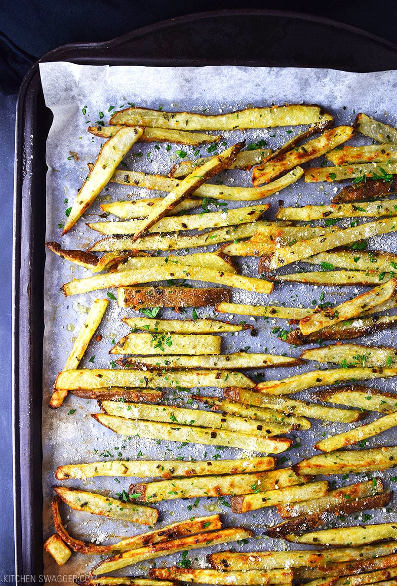 Baked Parmesan Truffle Fries Recipe