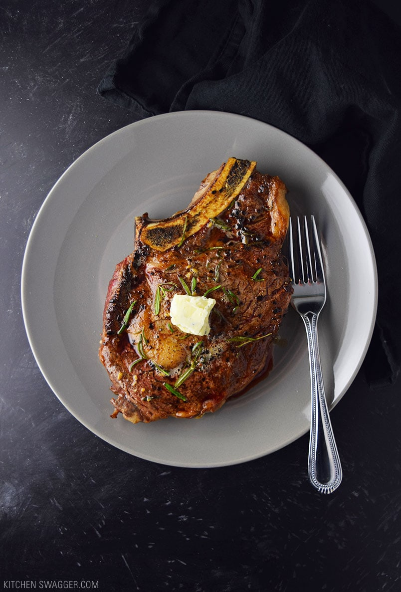 Pan Seared Ribeye Steak With Blue Cheese Butter Recipe
