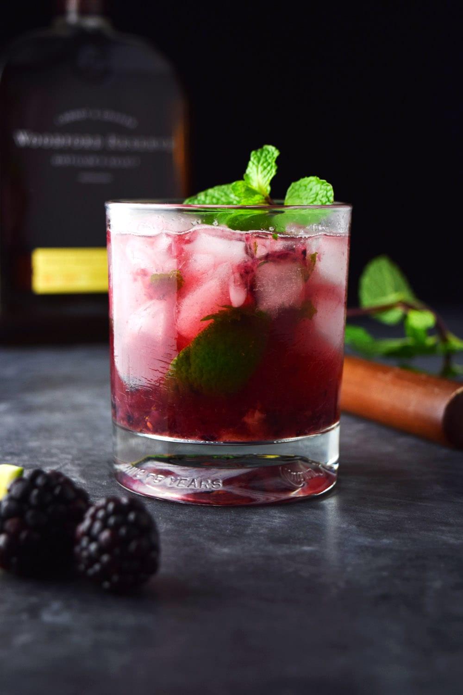 Blackberry Bourbon Smash (Whiskey Smash Recipe)