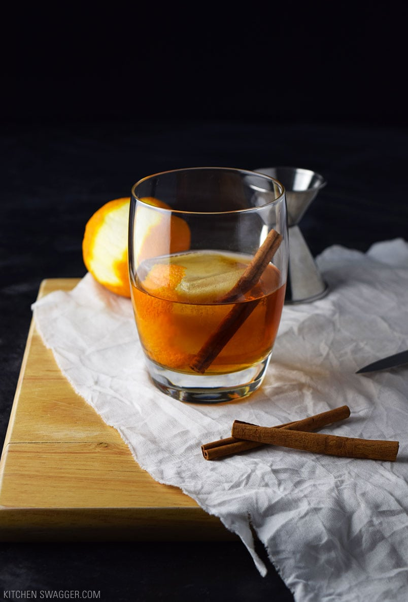 Brandy Old Fashioned With Maple Syrup