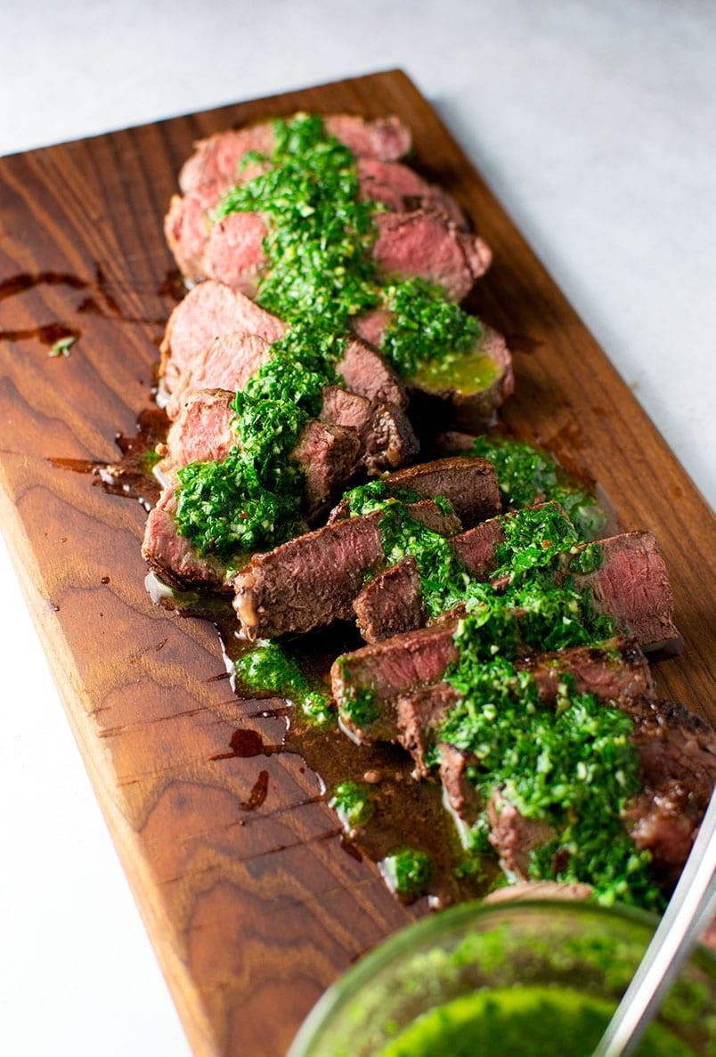 Sirloin Steak with Chimichurri Sauce Recipe