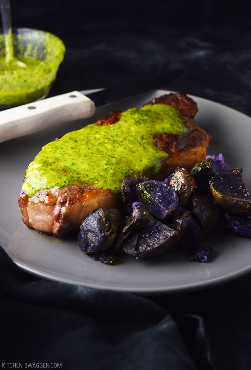 Sirloin steak with chimichurri sauce recipe kitchen swagger - Steak d espadon grille sauce combava ...