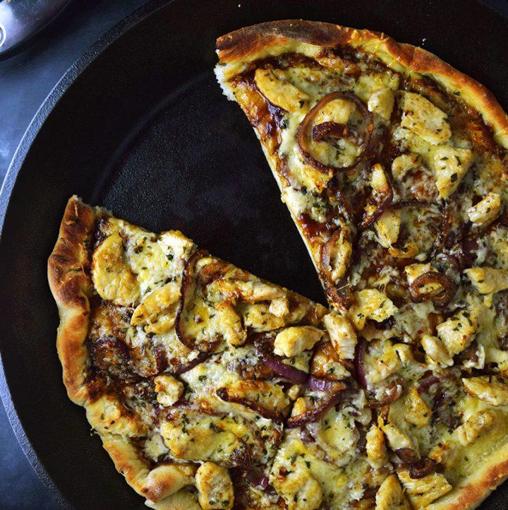 Skillet BBQ Chicken Pizza Recipe