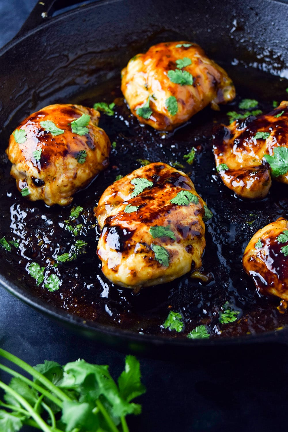 Skillet Cilantro Lime Chicken Thighs Recipe