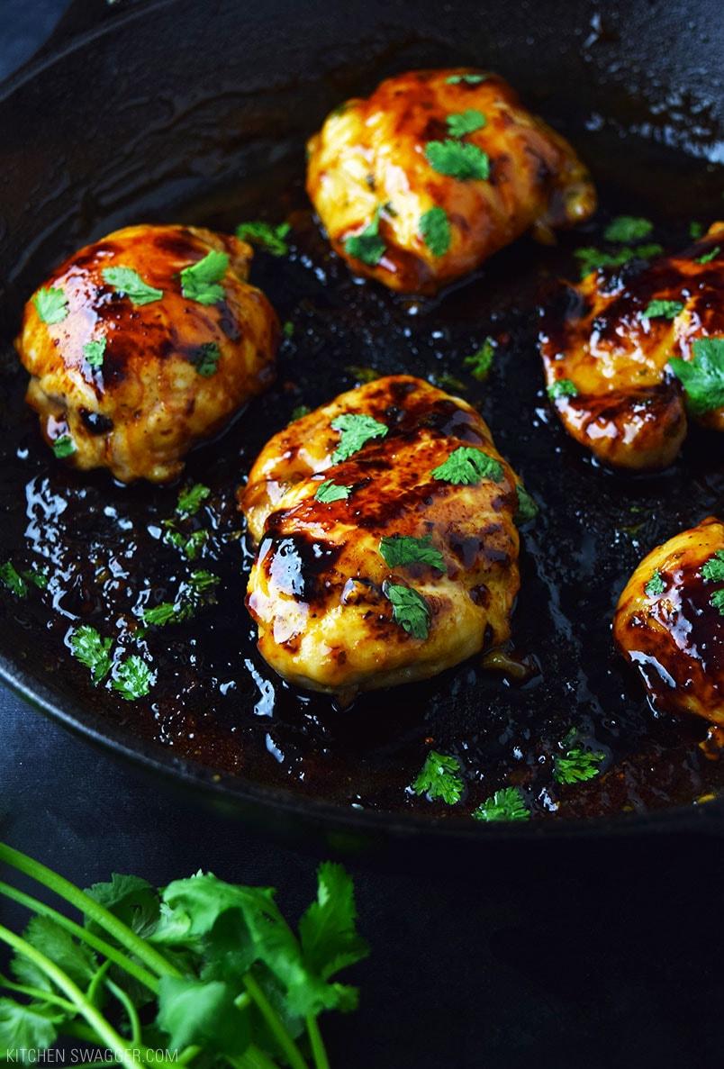 Skillet Cilantro Lime Chicken Thighs Recipe