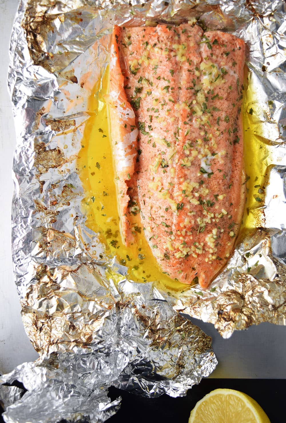 Garlic Butter Steelhead Trout In Foil Recipe Kitchen Swagger