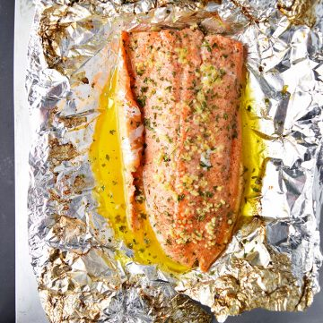 "<span class=""entry-title-primary"">Garlic Butter Steelhead Trout in Foil Recipe</span> <span class=""entry-subtitle"">Simple steelhead trout baked with garlic, lemon, butter, and fresh herbs.</span>"