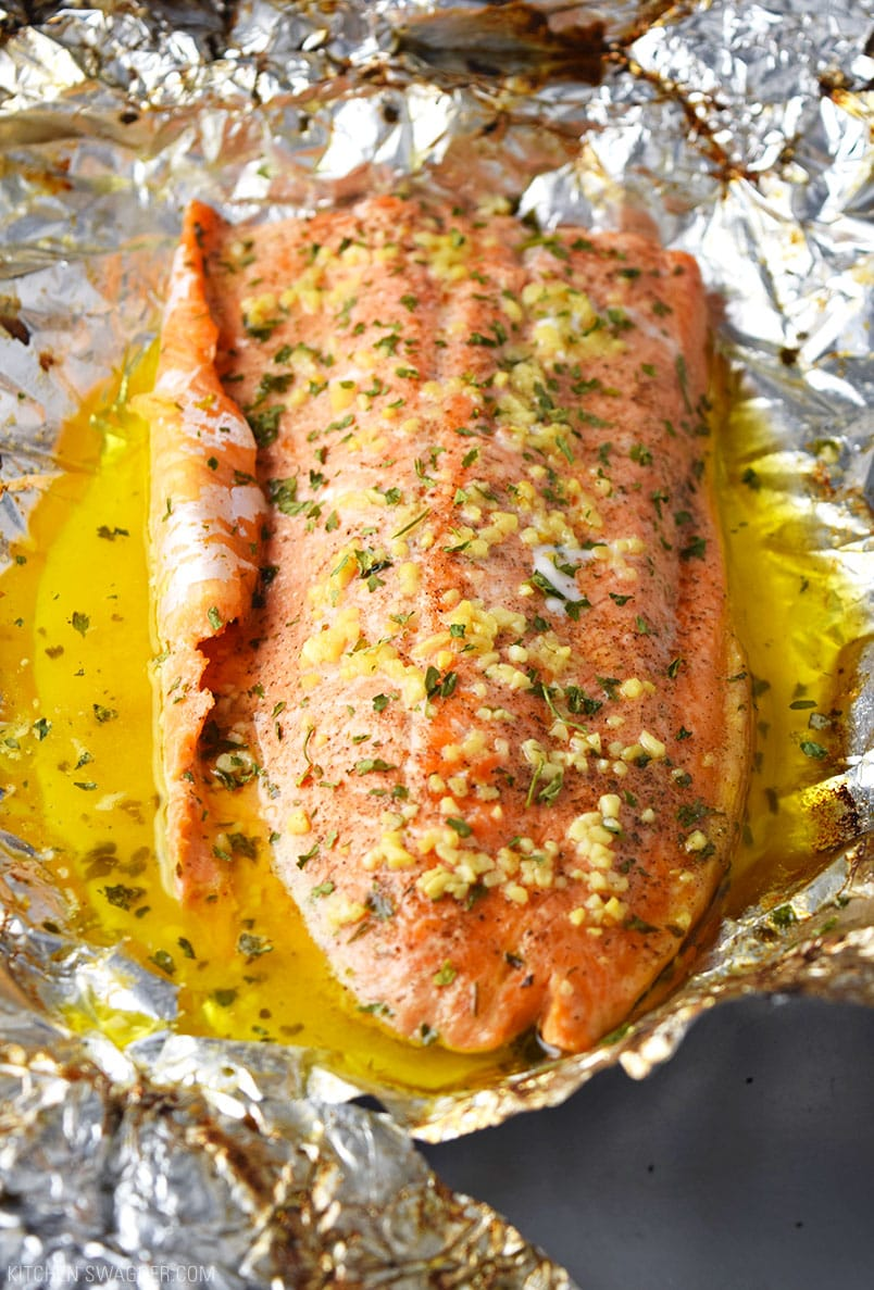 Garlic Butter Steelhead Trout In Foil Recipe Kitchen Swagger