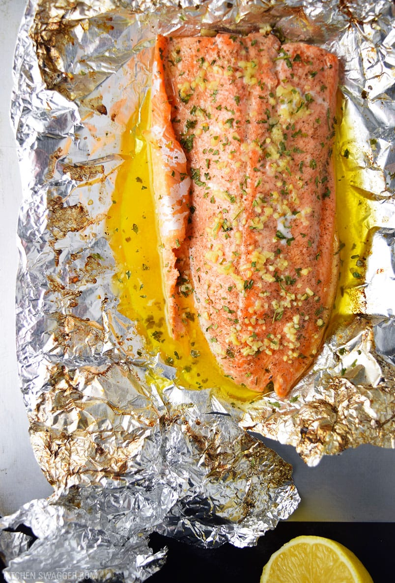 recipe: grilled whole trout foil packets [11]