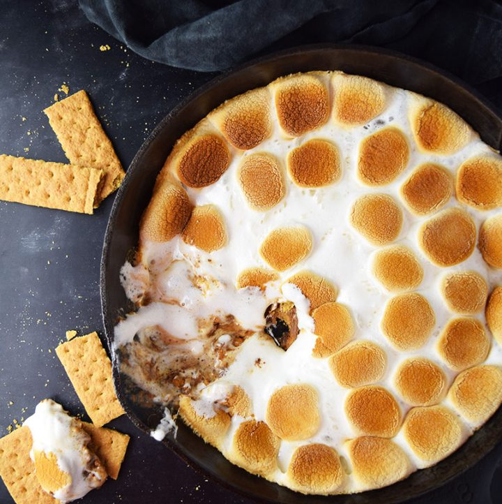 Skillet S'mores Dip with Reese's Recipe