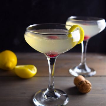 "<span class=""entry-title-primary"">The Number 100 Cocktail</span> <span class=""entry-subtitle"">An original prosecco cocktail to honor Kitchen Swagger's 100th recipe</span>"