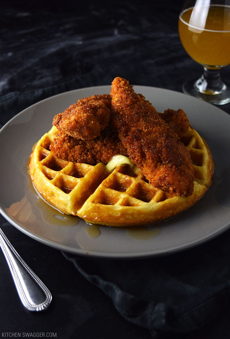 Spicy Fried Chicken and Waffles Recipe